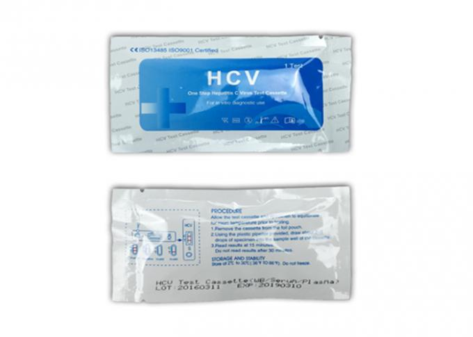Quick Operation HCV Rapid Test Kit 4mm Cassette 24 Months Shelf Life FDA Approved