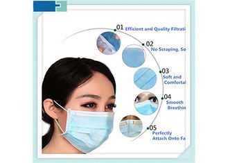 Hospital Consumables 3 Ply Disposable Medical Mask Non Woven 17*9.5cm