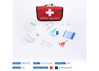 Outdoor First Aid Bag Mini Size , Polyester First Aid Carry Bag Customized Color