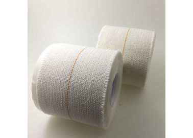 White Cotton Sports Bandage Tape Feather Edge Hot Melt Adhesive Good Elasticity