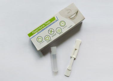 Safe Home Testing Kits 99% Accuracy , Oral Fluid Hiv Rapid Test Kit Plastic Housing