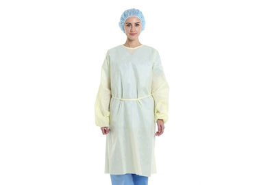 Soft Breathable Non Woven Isolation Gown Disposable Light Weight PP 20GSM